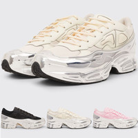New Raf Simons Originals Ozweego III Mens papa sport Chaussures Femme Maladroit Metallic Silver Sneakers Dorky Chaussures Casual EE7945 EE7944 NO BOX!