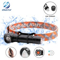 Multi- function rechargeable LED headlamp led flashlight CREE...