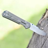 Borboleta Folding Knives Hot Sale D2 lâmina de aço Titanium Alloy Handle Auto-Defesa ferramentas de sobrevivência Tático Caça Camping Pocket Knife
