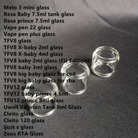 10pcs Fat Extend Replacement Bulb Bubble Glass Tube for TFV1...