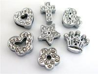 10pcs 8mm di fascini del cuore stelle farfalla fiore slitta Sharm Wristband adattano 8 millimetri creazione di gioielli braccialetto del wristband collare dell'animale domestico