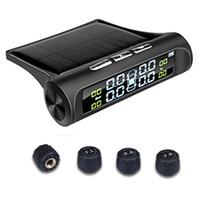 Smart Car TPMS Reifendrucküberwachungssystem Solar Power Externe Sensoren Digitale LCD-Anzeige Auto-Sicherheits-Warnungssysteme Reifendruck