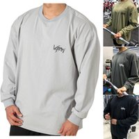 Longos da luva do Gym Pullovers aptidão Hoodies Men Moletons solto Workout Tops Moda Cotton Jumpers esporte funcionar Roupa Plus Size