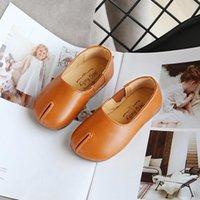 zapatillas de deporte negro marca de moda niñas Beige princesa de los niños zapatos de cuero 3 colores bebé ocasional bailan performace