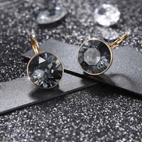 Pendientes de alta calidad de la moda Bella Stud Pendientes para mujeres hechas con Swarovski Elements Crystal Body Party Bijoux Joyería Regalo de Navidad