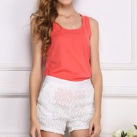 Fashion New Women O- neck Sleeveless Pure Color Vest Chiffon ...