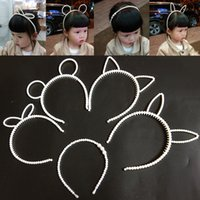 5 Stil Perle Drill Child's Hairpillar Hoop Korean Princess handgefertigte Perlen Child's Hair Trim