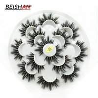 7pairs Soft Faux Mink Lashes Natural Long Crisscross Wispy F...