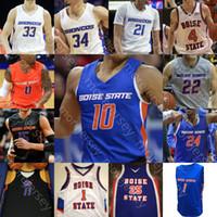 Пользовательские Бойсе Бронкос Баскетбол Джерси NCAA College Деррик Алстон Юстиниан Джессеп RJ Williams Kigab Alex Hobbs Чандлер Hutchison