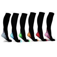 Компрессионные носки для Running Спорт Фитнес Cross Fit Sports коленных Высокая степень сжатия Носок 7 цветов ZZA858