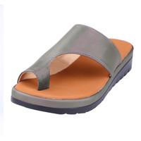 Hot Sale-Frauen Lederschuhe terlik Fuß Korrektur Sandale Orthopädische Bunion Corrector GMX190705