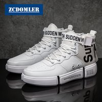 ZCDOMLER 2019 Spring Mens Fashion Leather Shoes Casual White...
