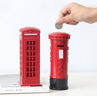 Red Telephone Figurine Piggy Bank Mailbox Money Boxes Metal ...