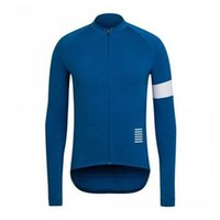 Hombre Rapha Pro Team Ciclismo Manga larga Jersey MTB Camisa de bicicleta al aire libre Ropa deportiva transpirable Quick Seco Racing Tops Road Bicycle Ropa Y21042103