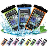 للماء حالة الهاتف المحمول للحصول على 11 X الصبغي X 8 7 سامسونج S9 واضح PVC مختومة تحت الماء الهاتف الخليوي الذكية الجاف غطاء الحقيبة
