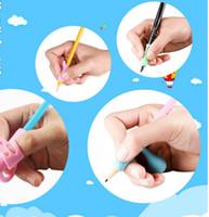 사무실 학교 용품 13P PC의 세트 실리콘 연필 홀더 펜 두 손가락 작성 그립 자세 보정 도구 어린이 학생
