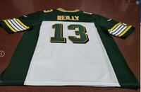 Benutzerdefinierte Männer Jugend Frauen Jahrgang Edmonton Eskimos # 13 Mike Reilly Fußball-Jersey-Größe s-4XL oder benutzerdefinierten beliebigen Namen oder Nummer Jersey