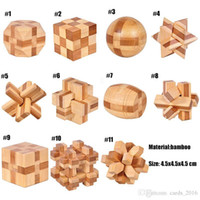 QI Cérebro Teaser Kong Ming Bloqueio 3D De Madeira Bloqueio Burr Puzzles Jogo Toy For Adults Kids