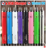 2019 100% качество Vision Spinner 2 II 1650mAh 510 Thread Vape Batteries + USB Charger Mods eGo EVOD Twist 3.3-4.8 V переменное напряжение батареи