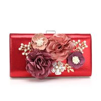 Clutch Tote Bag With Bags Wedding banquet party porm For Designer- Evening Luxury High Desinger Handbag Quality Decorated Flowe Oepck