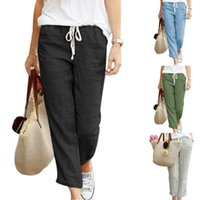 2020 Autumn women linen pants Summer Women Harem Pants plus ...