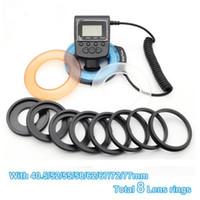 48pcs LED D-130 Anel flash LED Luz de Vídeo Câmera lâmpada acende iluminação fotográfica com 8 anéis para Photo Studio DSLR Camera