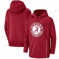 Herren Alabama Crimson Tide Sweatshirts Champ Drive Begrüßung zur Wartung Therma Performance NCAA Gedruckte Crimson Pullover Hoodies