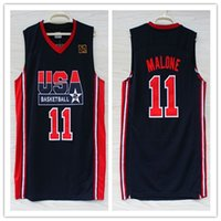 45cc84a3e1e5 Wholesale usa basketball team online - Men s Karl Malone dream team usa Top  Jersey Stitched Find Similar. 15