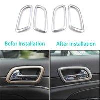 Anillo de plata ABS puerta interior del depósito anular Decorativo Para Grand Cherokee 2011+ alta calidad Auto Accesorios Interior