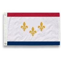 NEW ORLEANS CITY Louisiana State Flag LA State Flag 3x5FT Banner 100D Polyester 150x90cm Messingösen individuelle Flagge, freies Verschiffen