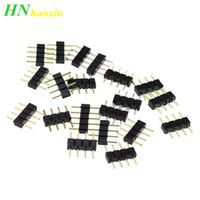 HaoXin 4pin RGB connector, 4 pin needle, Male and Female type 4pin, Suitable to RGB 5050 3528 LED Strip light led accessories