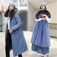 Trench da donna 2021 Moda Abbigliamento lungo in cotone Parka Abbigliamento femminile Liner Agnello Capelli Liner Giacca di pelliccia staccabile Inverno Donne OverCoats V995