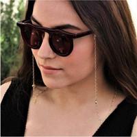 Óculos corrente em volta de cristal encanto ó cadeia cor prata ouro chapeado de silicone lacetes óculos acessório loja de lembrança bom