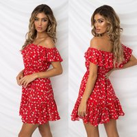 2019 New summer slash neck dress Womens Lady Summer Daily Co...