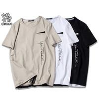 2019 Yaz Marka Üst Erkek T-shirt Kısa Kollu Siyah Beyaz T Gömlek Erkekler Tasarımcı T Gömlek Tee Yuvarlak Boyun Moda Tshirt S3353