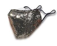 Унисекс хлопок защитные чехлы для лица для взрослых мода блесток маска для лица золото черный маскарадный костюм партия Маска