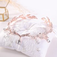Rose Gold Crystal Crown Bridal Hair Accessory Wedding Rhines...
