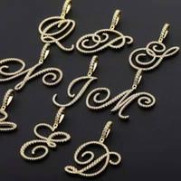 Anhänger Halskette für Männer Frauen Hip-Hop-Luxus-Designer-bling Diamanten Schnörkel Brief Anhänger Gold-Silber-Schmuck Mode-gefror heraus