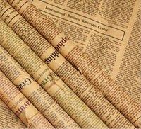 45 Blätter Retro Nostalgische English Word Zeitung Bouquet Einwickelpapier Verpackung Papier-Verpackung Versand Geschäft Industrie HA730