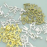 200 pz 17 * 7mm A-Z 4 colori MIX MIX GOLD Bronzo Argento Lettera Charms Ciondoli in metallo per collana fai da te Bracciali gioielli per gioielli A3935