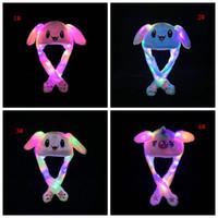 33 Styles LED en peluche Chapeau Cartoon animal Cap pour Lapin Lapin Chat oreille Moving Light Chapeaux adultes Enfants Noël d'hiver chaud Chapeaux DBC VT1166