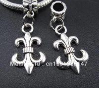 Antico argento fleur de lis charms ciondoli pendenti fiore pendenti per gioielli per la ricerca di braccialetti collana regalo di amicizia