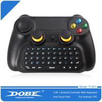 Горячие продажи Dobe Ti - 501 3 в 1 Беспроводной многофункциональный контроллер клавиатуры клавиатура мыши сенсорная панель для Android Smart TV / Pad / PC