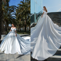2020 Crystal Design Ball Gown Wedding Dresses Simple Off The...