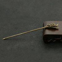 Portátil cabeza del dragón de latón de la forma de agujas Cuchara de cera plataformas petrolíferas Dabber Pala cigarro Preroll fumadores de cigarrillos del filtro de aire Portaherramientas de DHL