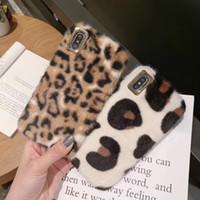 La manera de lujo lindo borrosa caliente peludo del invierno de la piel del leopardo de la felpa del patrón TPU suave terciopelo Animal impresión del guepardo para el iPhone 11 Pro Max