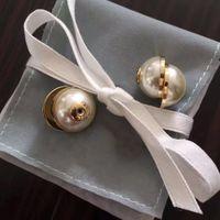 Kutu Moda Marka Ile Pullar Inci Tasarımcı Küpe Lady Kadınlar Için Parti Düğün Lovers Hediye Nişan Lüks Takı Gelin HB19