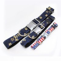 Cat Collar Flower Eco Friendly Collars Pet Dog Metal Printed...