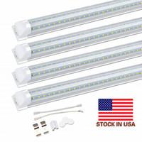 '더블 행 형광등기구 8'통합 LED 라이트 8피트 작업 등 45W 72W 96 8피트 T8 LED 튜브 V 모양 '
