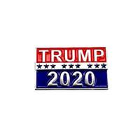 Trump 2020 Design Spilla perni metallici in lega degli Stati Uniti Elezioni presidenziali Spille da regalo Breastpins gioielli per gli uomini donne 1 1LS E1